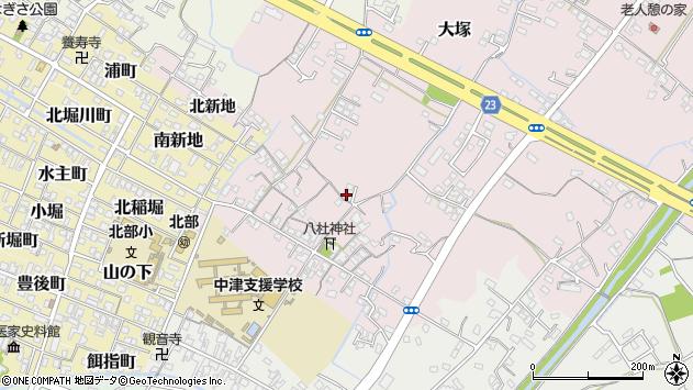 大分県中津市大塚225周辺の地図