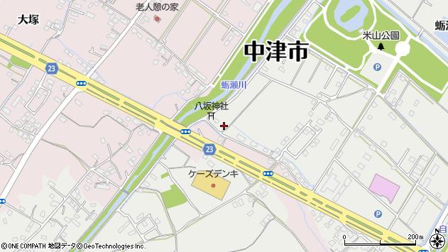大分県中津市蛎瀬1185周辺の地図