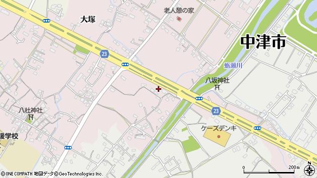 大分県中津市大塚404周辺の地図