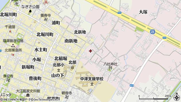 大分県中津市大塚144周辺の地図