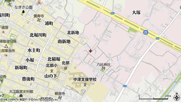 大分県中津市大塚183周辺の地図