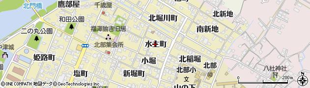 大分県中津市水主町周辺の地図
