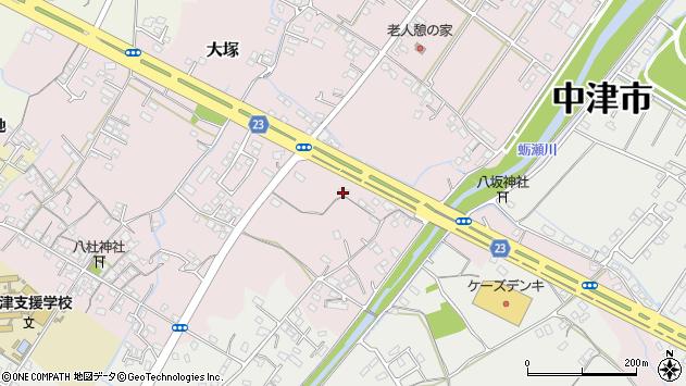 大分県中津市大塚410周辺の地図