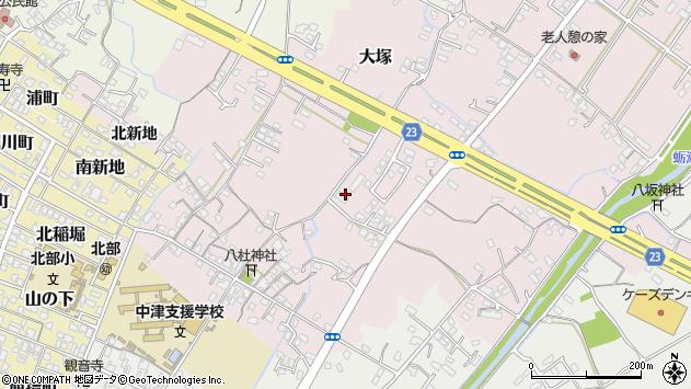大分県中津市大塚433周辺の地図