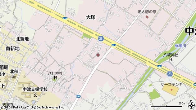 大分県中津市大塚455周辺の地図