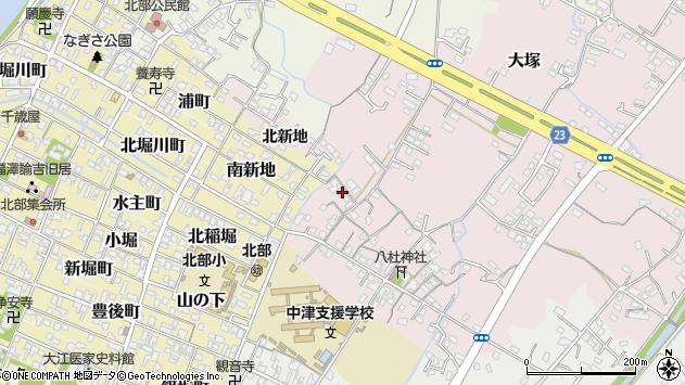 大分県中津市大塚185周辺の地図