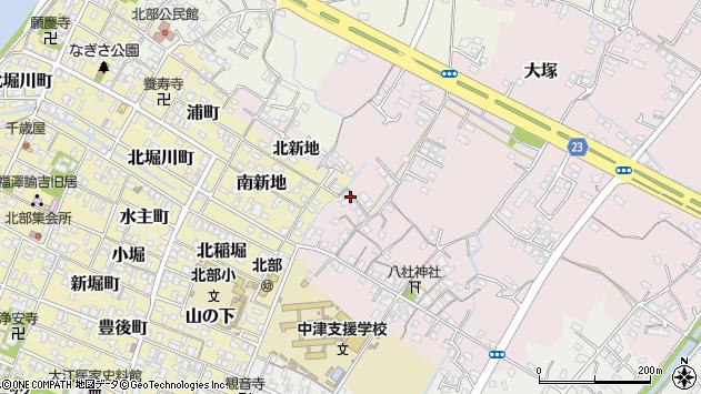 大分県中津市大塚186周辺の地図