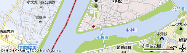 大分県中津市小祝68周辺の地図
