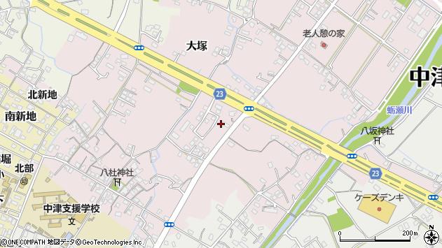 大分県中津市大塚419周辺の地図