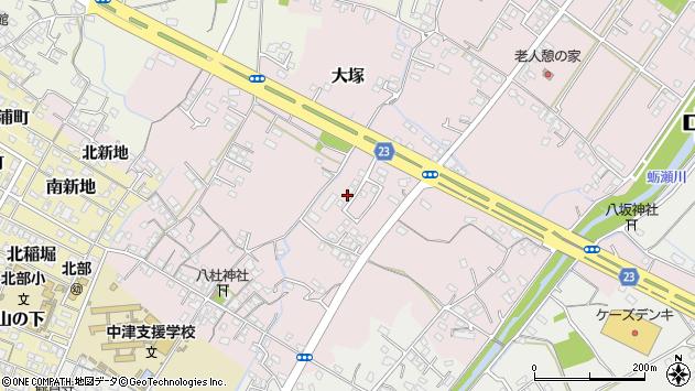 大分県中津市大塚450周辺の地図