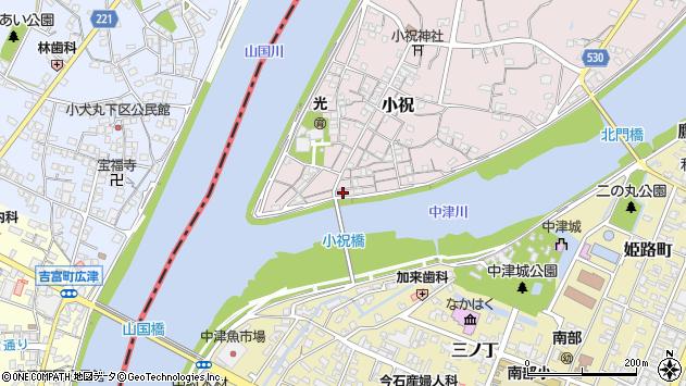 大分県中津市小祝81周辺の地図