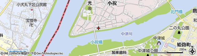 大分県中津市小祝84周辺の地図