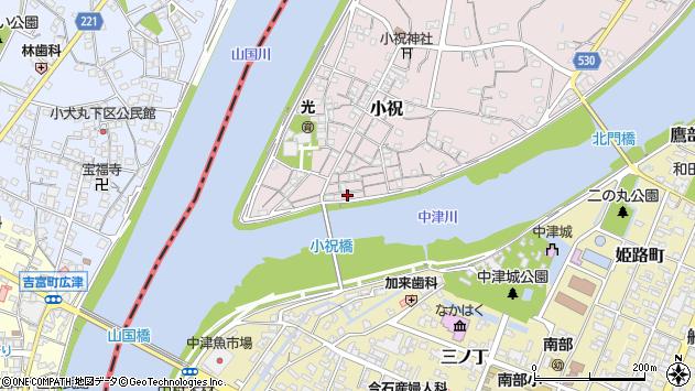 大分県中津市小祝92周辺の地図