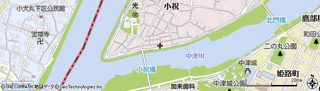 大分県中津市小祝95周辺の地図