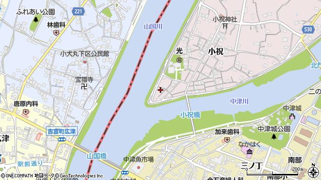 大分県中津市小祝27周辺の地図