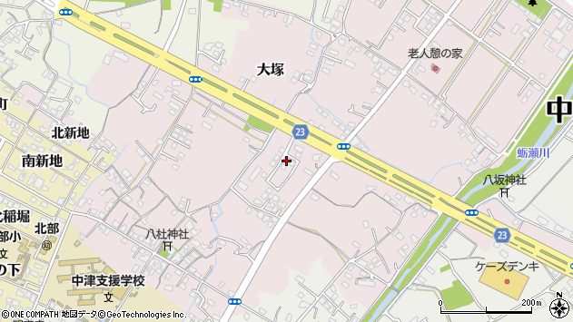大分県中津市大塚451周辺の地図