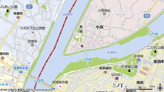 大分県中津市小祝147周辺の地図