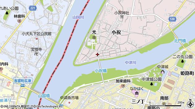 大分県中津市小祝75周辺の地図