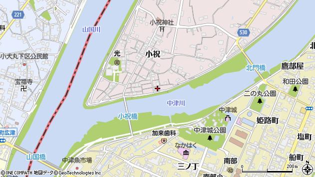 大分県中津市小祝121周辺の地図