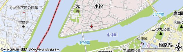 大分県中津市小祝96周辺の地図