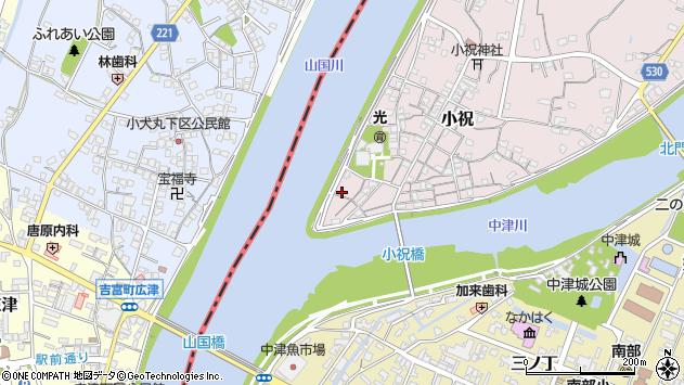 大分県中津市小祝49周辺の地図