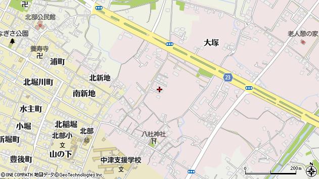 大分県中津市大塚213周辺の地図