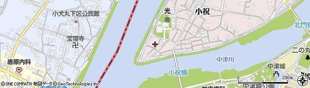 大分県中津市小祝44周辺の地図