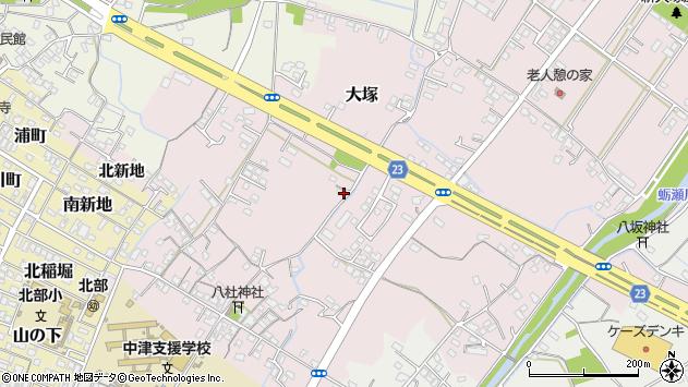 大分県中津市大塚238周辺の地図