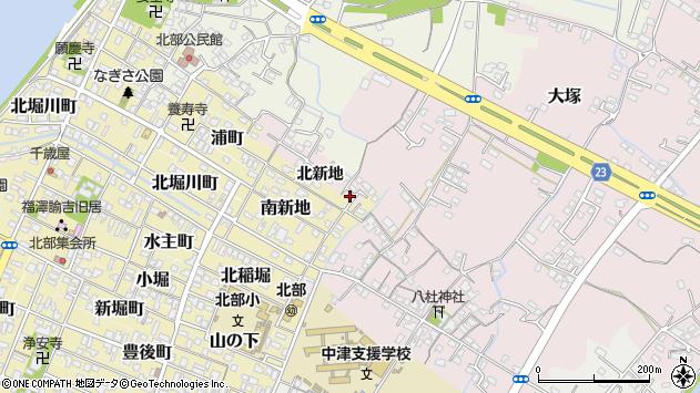 大分県中津市大塚188周辺の地図