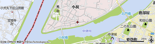 大分県中津市小祝125周辺の地図