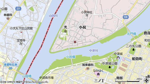 大分県中津市小祝157周辺の地図