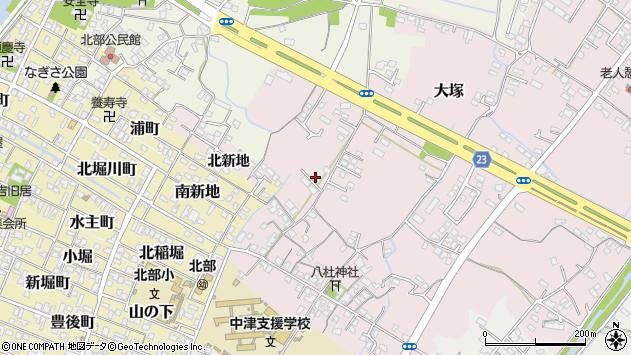 大分県中津市大塚211周辺の地図