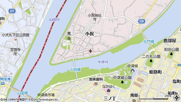 大分県中津市小祝126周辺の地図