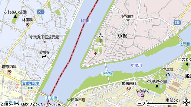 大分県中津市小祝12周辺の地図