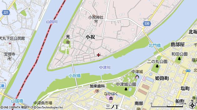 大分県中津市小祝139周辺の地図