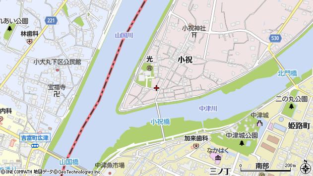 大分県中津市小祝198周辺の地図