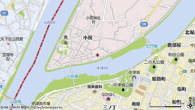 大分県中津市小祝138周辺の地図