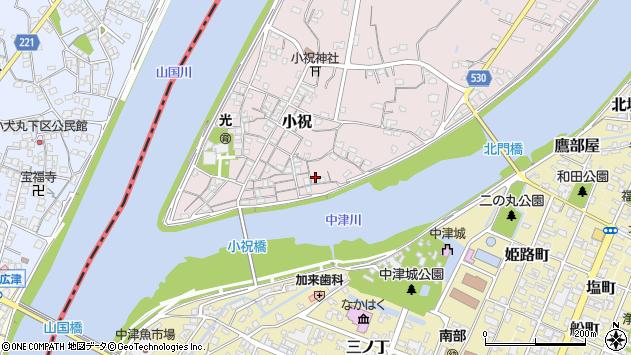 大分県中津市小祝141周辺の地図