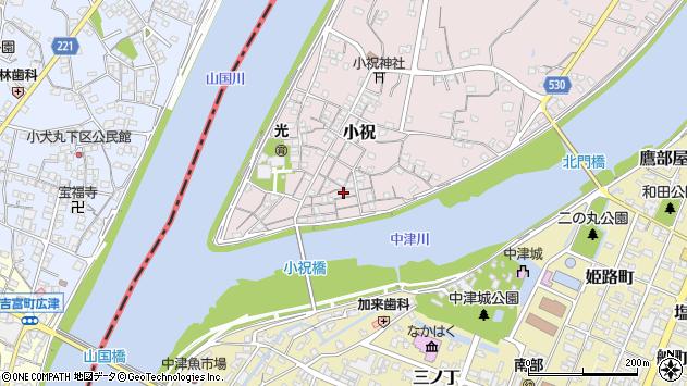大分県中津市小祝104周辺の地図