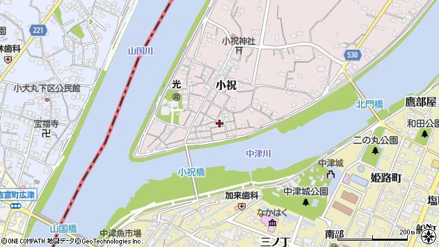 大分県中津市小祝105周辺の地図