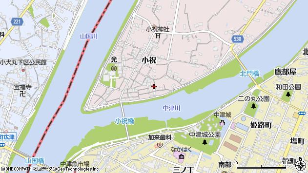 大分県中津市小祝129周辺の地図