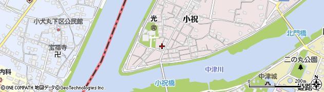大分県中津市小祝196周辺の地図