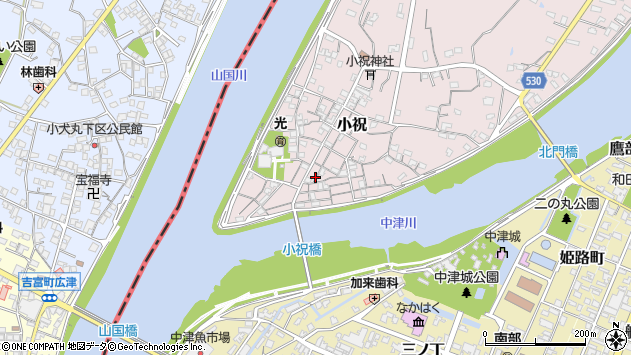 大分県中津市小祝168周辺の地図