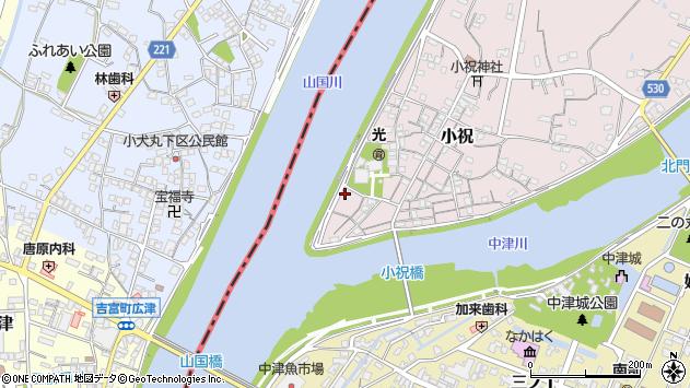 大分県中津市小祝60周辺の地図