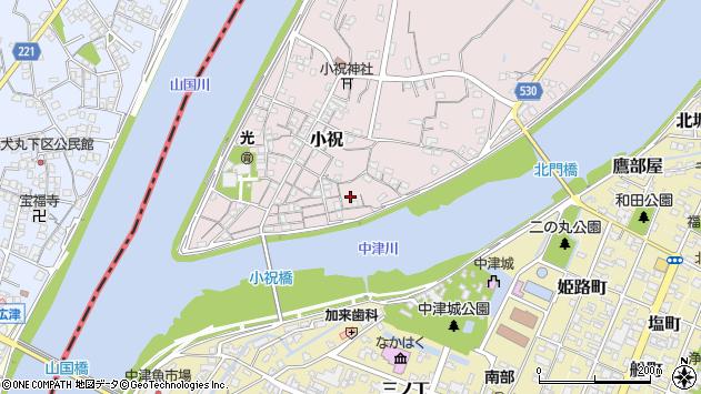 大分県中津市小祝146周辺の地図