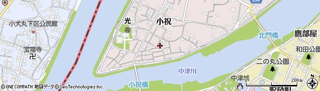 大分県中津市小祝155周辺の地図