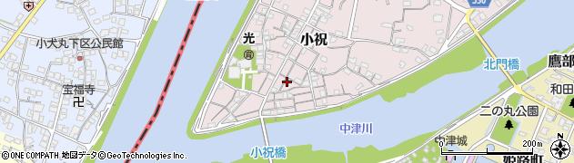大分県中津市小祝165周辺の地図