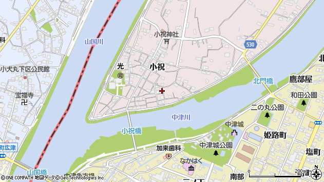 大分県中津市小祝149周辺の地図