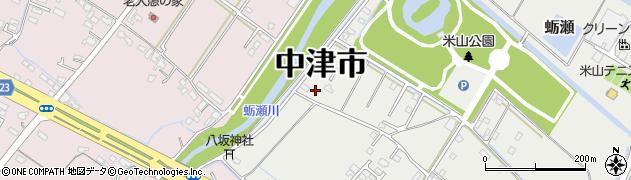 大分県中津市蛎瀬1344周辺の地図