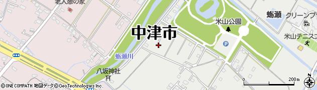 大分県中津市蛎瀬1345周辺の地図